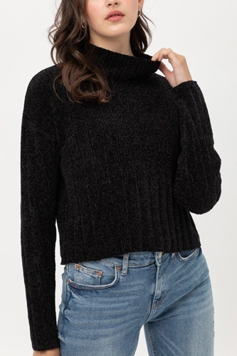 Mini velvet chenille crop sweater-id.cc51896c