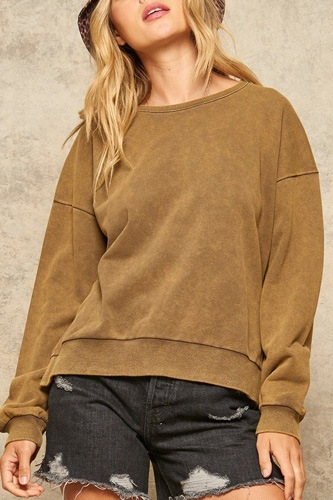 A mineral wash knit sweater-id.cc52053a