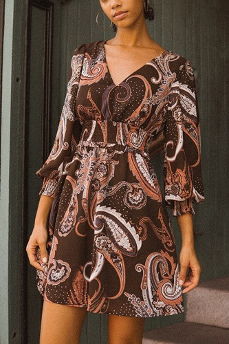 A woven mini dress in vintage paisley print-id.cc52055