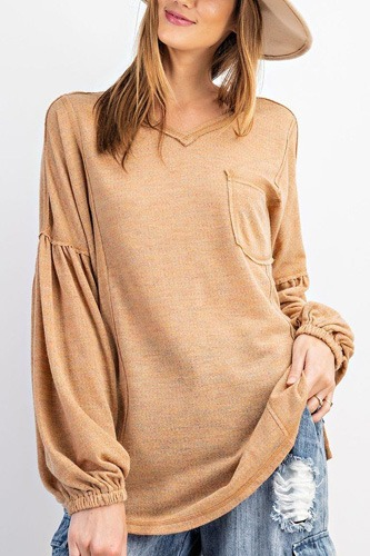 Bubble slvs multi tone light hacci sweater top-id.cc52058a