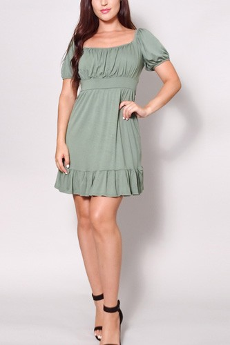 Puff short sleeve tie back easy summer mini dress-id.cc52062a