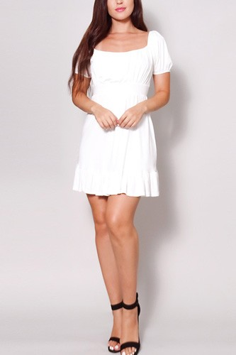 Puff short sleeve tie back easy summer mini dress-id.cc52062b