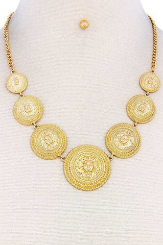 Lion head circle linked necklace-id.cc52087