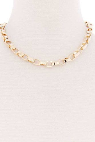 Oval metal thick chain necklace-id.cc52172