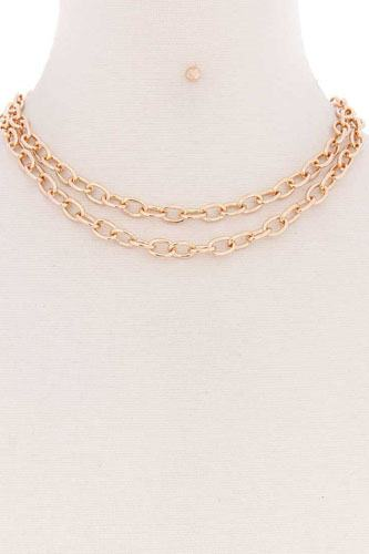 2 simple chain metal layered necklace-id.cc52177