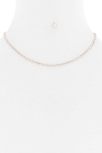 Basic simple metal chain single necklace-id.cc52178