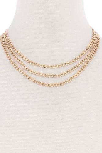 3 simple metal chain layered necklace-id.cc52179