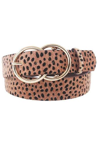 Stylish cheetah fur and pattern belt-id.cc52196
