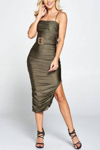 Ruched belted midi dress-id.cc52305a