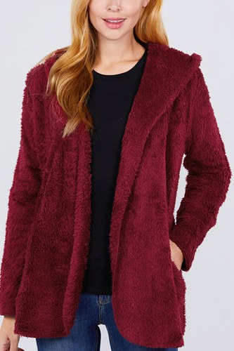 Hoodie faux fluffy jacket-id.cc52337d
