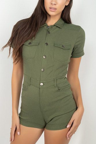 Short sleeve button front romper-id.cc52341a