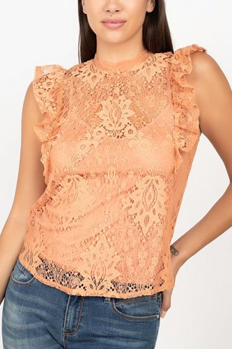 Sleeveless lace lining top-id.cc52344