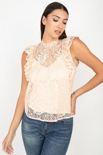 Sleeveless lace lining top-id.cc52344a
