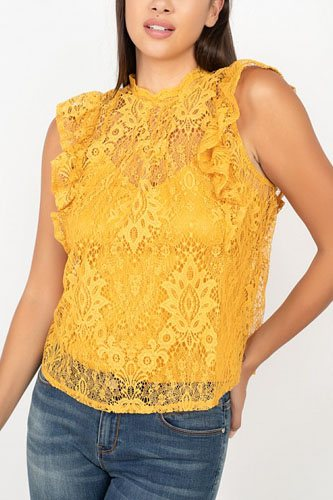 Sleeveless lace lining top-id.cc52344c
