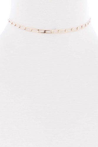 Metal chain link choker necklace-id.cc52358