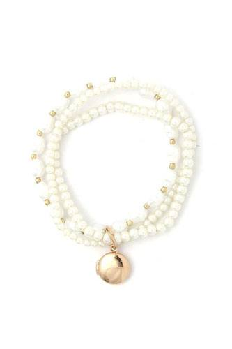 Locket charm pearl beaded bracelet set-id.cc52371