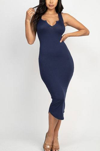 Split neck bodycon dress-id.cc52380f