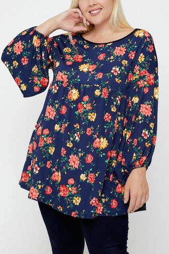 Floral, bubble sleeve tunic-id.cc52382c