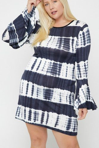 Bell sleeves print dress-id.cc52385a