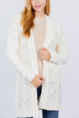 Chenille sweater cardigan-id.cc52413a