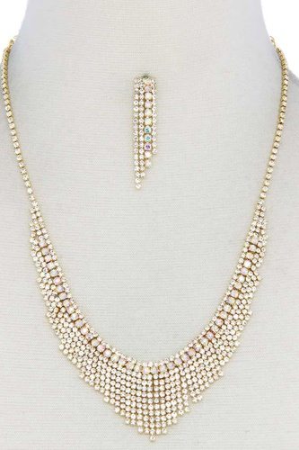 Dangle rhinestone necklace-id.cc52426