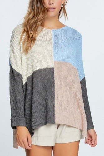 Colorblock cozy thick knit oversize sweater-id.cc52463