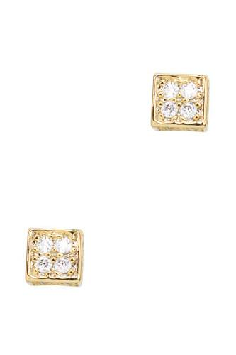 Secret box square stone stud earring-id.cc52581