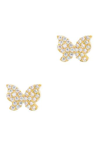 Secret box cubic butterfly stud earring-id.cc52584