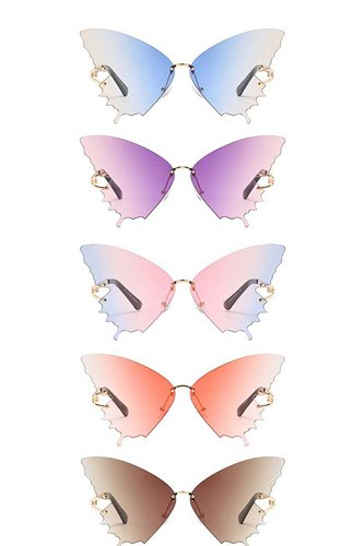 Chic cool colored butterfly design sunglasses-id.cc52596