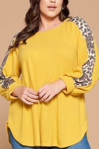 Plus size solid hacci brush tunic top -id.cc52605c