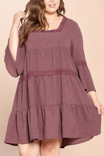 Solid loose-fit woven babydoll dress-id.cc52607a