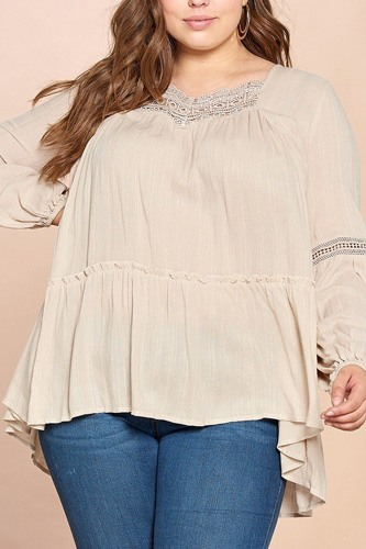 Solid woven loose-fit tunic-id.cc52608