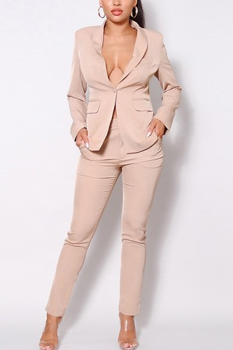 One button blazer jacket & tapered trouser set-id.cc52615c