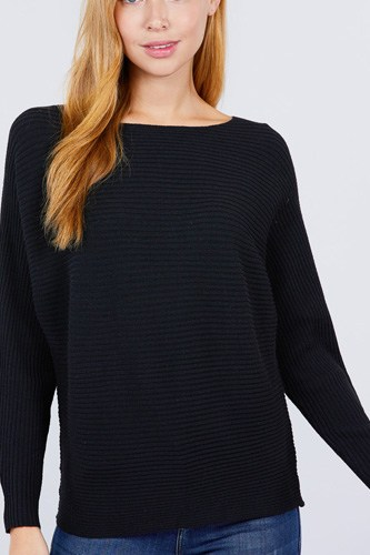 Dolman boat neck sweater-id.cc52637a