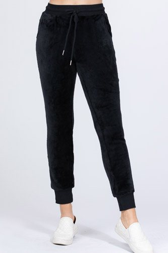 Faux fur jogger pants-id.cc52640