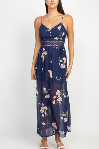 Floral lace maxi dress-id.cc52643