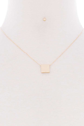 Square pendant dainty necklace-id.cc52652