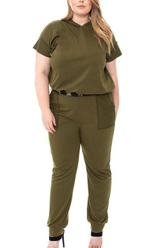 Camouflauge detailed jogger plus size set-id.cc52680