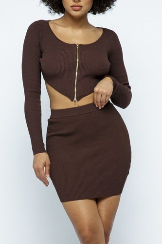 2 way zipper mini skirt set-id.cc52693