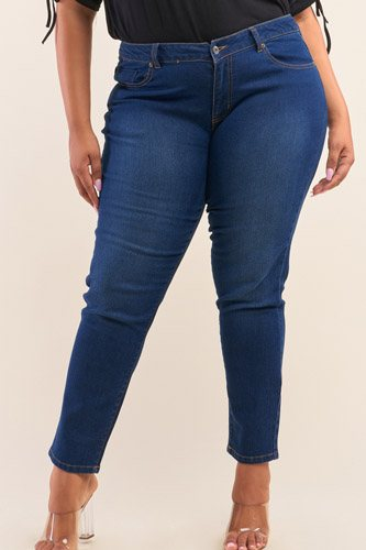 Plus size low-mid rise straight cut denim pants-id.cc52718