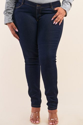 Plus size low-mid rise straight cut denim pants-id.cc52718a