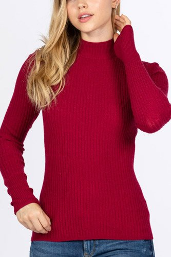 Mock neck viscose sweater-id.cc52726h
