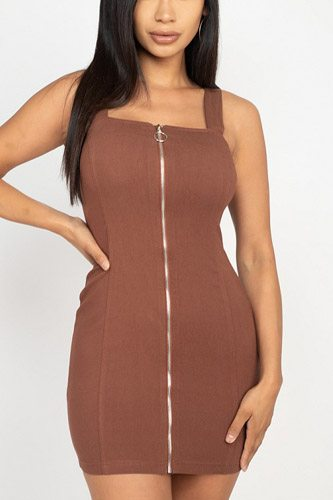 Front zip mini dress-id.cc52731a