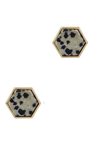 Natural stone stud earring-id.cc52746