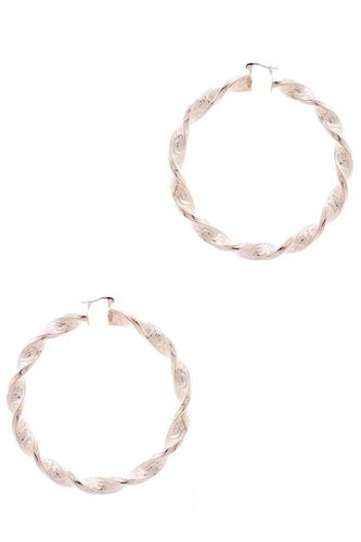 Metal twist basic hoop earring-id.cc52750