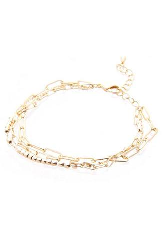 3 layered multi metal chain bracelet-id.cc52751