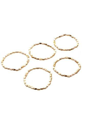 Metal bead stretch 5 pc bracelet set-id.cc52753