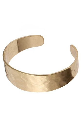 Hammered metal open bangle bracelet-id.cc52754