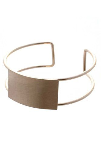 Metal rectangle open bangle bracelet-id.cc52755