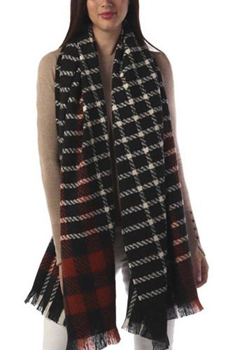 Modern plaid oblong scarf-id.cc52763